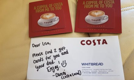 Thank You Costa Coffee!