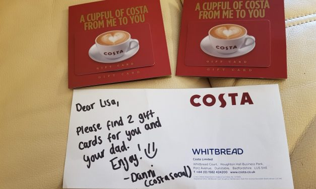 Thank You Costa Coffee!